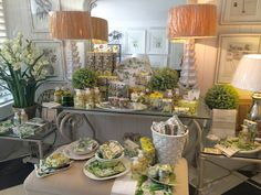 What a great combination of Avocado and Into the Woods. Playing off the soft greens and yellows, Birds of a Feather in South Africa pulled this vignette together with white and green accent pieces. Kitchen Shop, Visual Display, Green Accents, Store Displays, Bird Feathers, Accent Pieces, South Africa, Woods, Avocado