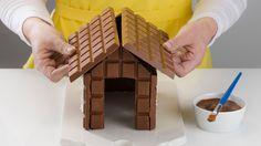 Christmas Gingerbread House, Swedish Christmas, Christmas Sweets, Christmas Cooking, Christmas Decorations, Xmas, Chocolate House, House Cake, Artisan Chocolate