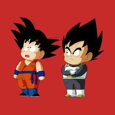 Check out this awesome 'Kid+Goku+and+Kid+Vegeta' design on Dbz, Goku And Vegeta, Dragon Ball Z, Poses Anime, Cry Anime, Manga Dragon, Mika, Indie, Fan Art