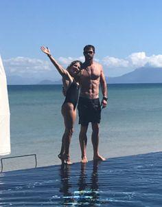Chris Hemsworth and Elsa Pataky Go Down Under