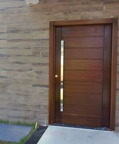 Exterior front entrance modern entry decor 20 ideas for 2019 Modern Entrance Door, Modern Entry, Modern Front Door, Entry Doors, Wooden Main Door Design, Front Door Design, Flush Doors, The Doors, Exterior Doors
