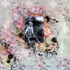 "Layout using the beautiful Scraps Of Elegance January kit ""Renea's Charm"""