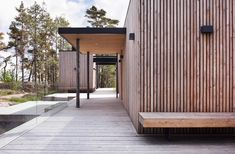 Villa Lulla by Joarc Architects is a real treasure in the world of architecture. With its sculptural lines and design, Villa Lulla is a tribute to Architecture Details, Interior Architecture, Villas, Wood Facade, Timber Cladding, Exterior Cladding, Interior Design Studio, Maine House, Pergola
