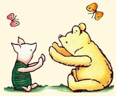 Spencer Aloysius' Winnie the Pooh Clipart Collection Winnie The Pooh Tattoos, Winnie The Pooh Quotes, Winnie The Pooh Classic, Cat Character, Disney Images, Bear Party, Pooh Bear, Disney Love, Illustrations