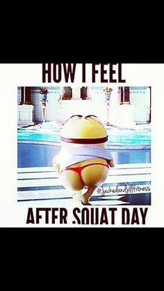 Squats....minion gym humor