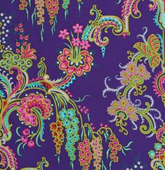 Crazy Love 'Jo Ann' Blue Fabric by by SouthernSeamsFabrics on Etsy, $8.50