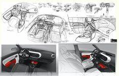 Car interior sketching
