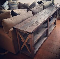 DIY Wooden Farm Table as a Living Room Storage - 16 Best DIY Furniture Projects Revealed – Update Your Home on a Budget!