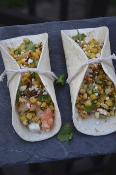 Shrimp and Mexican Street Corn Tacos