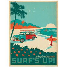 Surfs Up Wall Decal - for color scheme