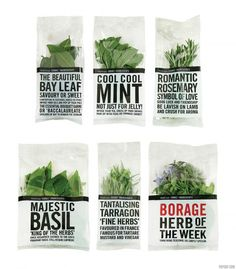 Typographic packaging.