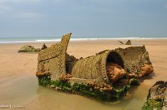 Wreck of the SS Belem on Northcott Mouth, Bude, Cornwall