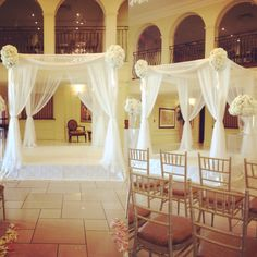 Sheer and lace by www.chuppah.ca