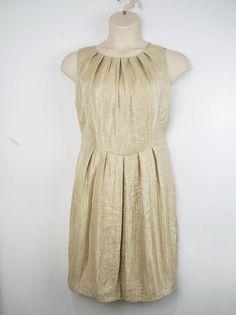 e8d9a1e4d161e RIVETTE  amp  BLAIR stunning soft gold dress Sz 16 14  fashion  clothing