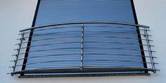 Französische Balkone / Absturzsicherungen aus Edelstahl - Niro. Super Qualität zum super Preis! Railing Design, Stair Railing, Window Protection, French Balcony, Business Outfits Women, House Stairs, Steel Table, Wrought Iron, Blinds