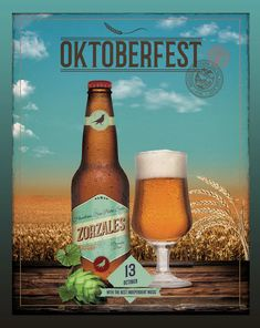Beer Fest Flyer Poster Template PSD