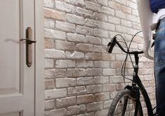 Decorative British Brick Effect Wall Covering Panel. Our British Brick panel is available in a range of colours, (old red, white, old white and natural) to fit in with your décor. Brick Effect Panels, Brick Paneling, 3d Wall, British, Home Appliances, Wall Decor, Colours, Range, Natural