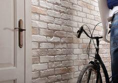 British Brick- Aged White - Decorative Wall Covering- 1m²/panel