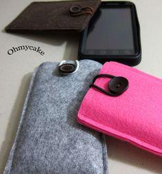 Handmade iPhone Felt Case $12.00, via Etsy.