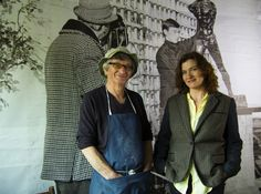 Kingstreetimages' Producer Maxine King with sculptor John Farnham