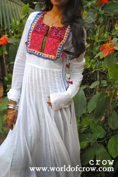 Buy white Anarkali