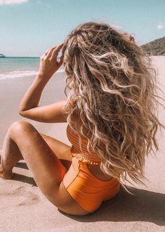 beach hair You know summer season is a - haar Summer Hairstyles, Cool Hairstyles, Beach Hairstyles For Long Hair, Hair Inspo, Hair Inspiration, Wavy Hair, Blonde Hair, Haircut Designs, Photo Portrait