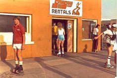 Seems like yesterday - Street Skates on the Strand in Hermosa Old Photos, Vintage Photos, Hermosa Beach, Under The Sea, Coast, California, Skates, History, Santa Barbara