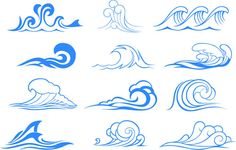 Wave vector symbols and illustrations   Designers Revolution