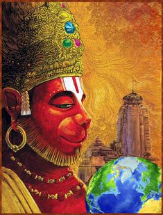 Yoga Art Painting, Indian Art Paintings, Anjaneya, Oriental Art, Lord Hanuman Wallpapers, Art, Shiva Art, Krishna Art, Lord Vishnu Wallpapers