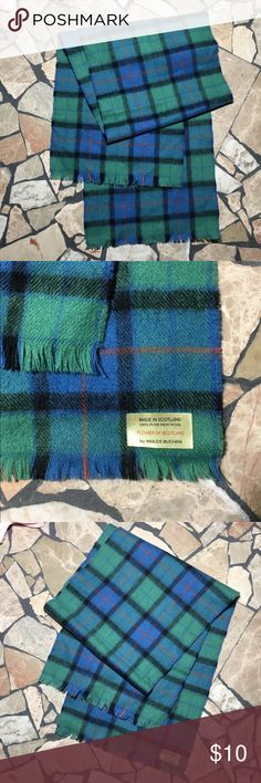 """Flower of Scotland wool scarf Flower of Scotland by Ingles Buchan 100% pure new wool scarf. 51"""" long 10.5"""" wide. Excellent vintage condition. Ingles Buchan Accessories Scarves & Wraps"""
