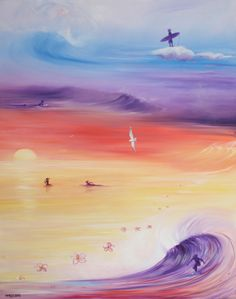 SurfArt fantasy surfing check www.SurfArt.nl for details  #surfart #surf #painting