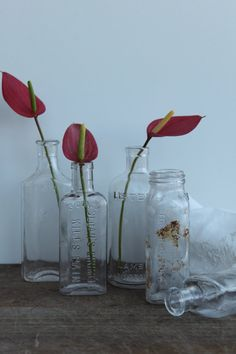 Vintage medical bottles / Free shipping in the by Brimfieldfinds, $32.00