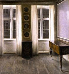 The Athenaeum - Drawing Room. The Four Copper Prings (Vilhelm Hammershøi - )