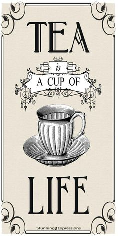 Tea graphic reversed and ready to be printed on a laser printer and transferred onto your painted surface with Artisan Enhancements Transfer Gel! Images Vintage, Vintage Diy, Vintage Labels, Vintage Party, Vintage Prints, Vintage Posters, Vintage Quotes, Etiquette Vintage, Foto Transfer