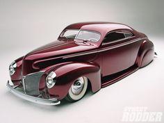 1940 ford coupe custom street rod | 1940 Mercury Coupe Left Side Photo 1