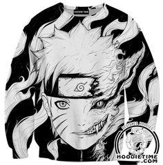 Naruto Kurama 9 Tails Hoodie - Naruto Hoodies - Double Printed Clothing