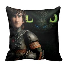 Hiccup & Toothless Throw Pillows