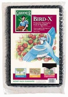 """Protective netting for fruits and vegetables Protects fruit and berries from thieving birds and other garden pests Durable """" polypropylene mesh with U-V inhibitors For use on berry bushes, fruit trees and strawberry rows 90 day x Veg Garden, Garden Pests, Garden Tools, Organic Gardening, Gardening Tips, Bird Netting, Strawberry Patch, Aleta, Garden Structures"""
