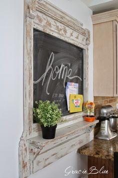 Gracie Blue : Antique Mantel {Before & After}
