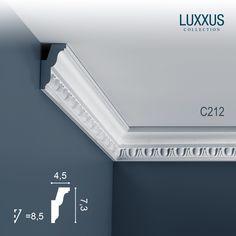 Cornici Soffitto e Parete stucco decorativo Cornicione Orac Decor C212 LUXXUS
