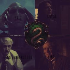 Slytherin examples of how every house produces different people - some stereotypical, some not so much