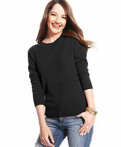 Charter Club Sweater, Long-Sleeve Cashmere Sweatshirt Love this!