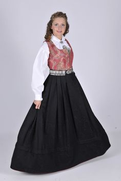 Folk Costume, Costumes, Damask, Norway, All Things, Scandinavian, Victorian, Traditional, Dresses