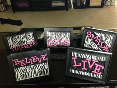 Zebra Print Peace Sign Wall Decor Magnificent Photos Of Zebra And Peace Sign Bedrooms For Girls  Hot Pink Zebra 2018