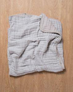 Little Unicorn Organic Cotton Muslin Quilt - Grey Stripe