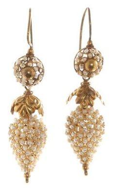 Georgian Pearl Earrings in Box