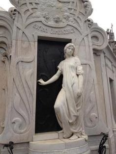 Rufina was buried alive (by mistake). They thought she was dead but just in a coma. This is her mausoleum. Her ghost roams the cemetery at night.
