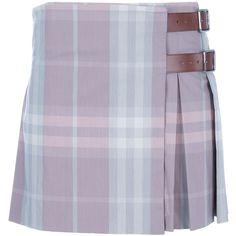 BURBERRY LONDON mini kilt ($355) ❤ liked on Polyvore
