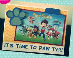 HCCB_001 Paw Patrol Happy Birthday Card