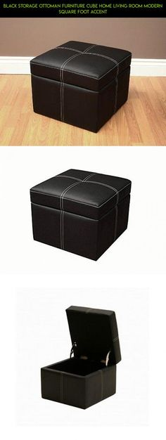 Black Storage Ottoman Furniture Cube Home Living Room Modern Square Foot Accent #tech #gadgets #drone #kit #storage #technology #ottoman #products #parts #shopping #cube #fpv #racing #camera #plans